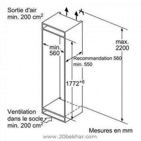یخچال و فریزر توکار بوش مدل KIS87AF304