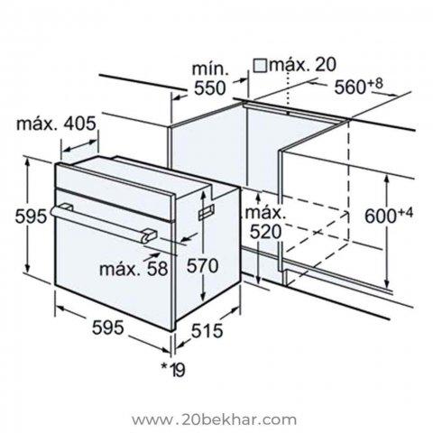 فر توکار بوش مدل HBG43S320I سری 6