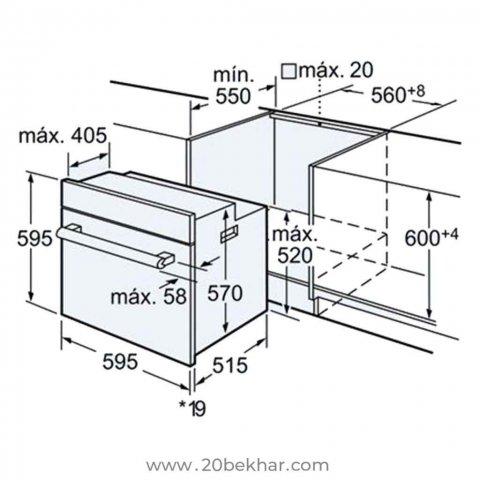 فر توکار بوش مدل HBG43S360I سری 6