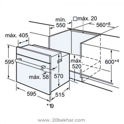 فر توکار بوش مدل HBN559E3I سری 2