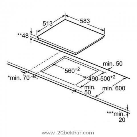 صفحه برقی توکار بوش مدل PKN645D17