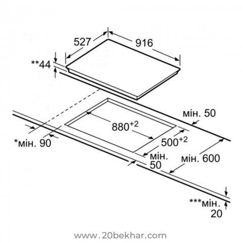 صفحه برقی توکار بوش مدل PKV975DC1D