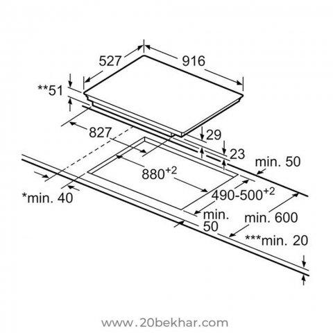 صفحه برقی توکار بوش مدل PIK975N24E