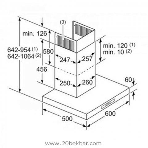 هود بوش مدل DWB06W452T
