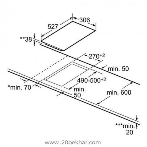 صفحه برقی توکار بوش مدل PKF375FB1E