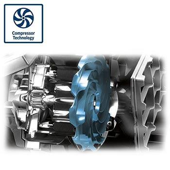 تکنولوژی Compressor Technology در جاروبرقی بوش