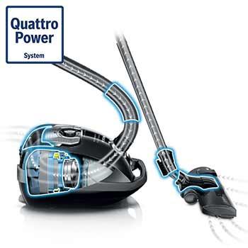 تکنولوژی Quattro Power در جاروبرقی بوش